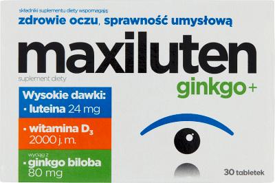 Maxiluten Ginkgo +  30 tabletek
