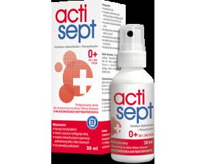 Actisept 0+ spray do stosowania na skórę od 1. dnia  życia  50 ml
