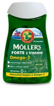 MOLLERS  Forte  Tran  Norweski 112 kapsułek