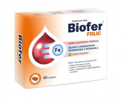 BIOFER FOLIC 60 tabletek