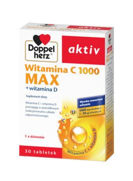 Doppelherz aktiv Witamina C 1000 Max + Witamina D 30 tabletek