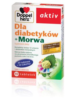 DOPPELHERZ AKTIV Dla diabetyków+ Morwa, 30 tabletek