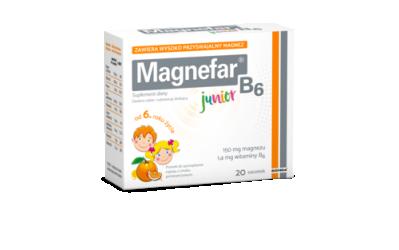 Magnefar B6 Junior (smak pomarańczowy) 20 saszetek proszkiem do sporządzenia roztworu