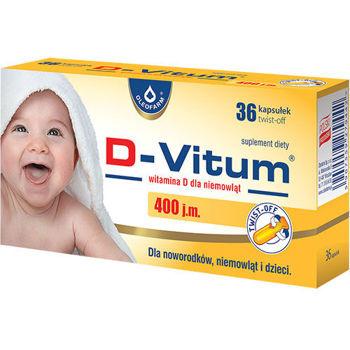"""D-Vitum 400 j.m. 36 kapsułek typu """"twist off"""""""