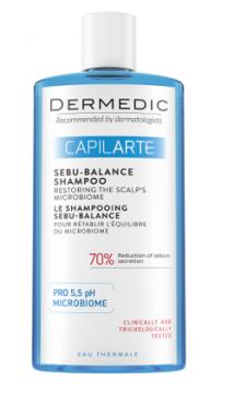 Dermedic Capilarte Sebu - Balance szampon przywracający równowagę mikrobiomu  tłustej skóry głowy 300 ml