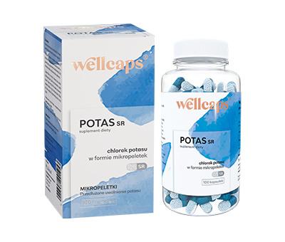 Wellcaps Potas SR  100 kapsułek