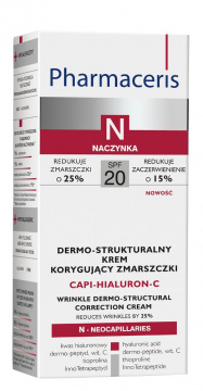 Pharmaceris N Capi-hialuron-C dermo - strukturalny krem korygujący zmarszczki SPF20 50 ml
