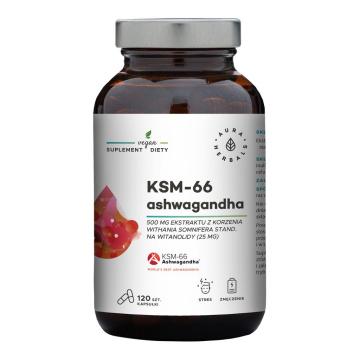 Aura Herbals Ashwagandha KSM-66 500 mg 120 kapsułek