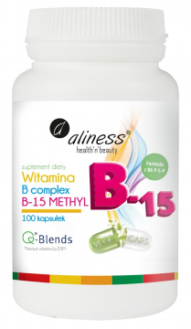 Aliness Witamina B Complex B-15 Methyl, 100 kapsułek