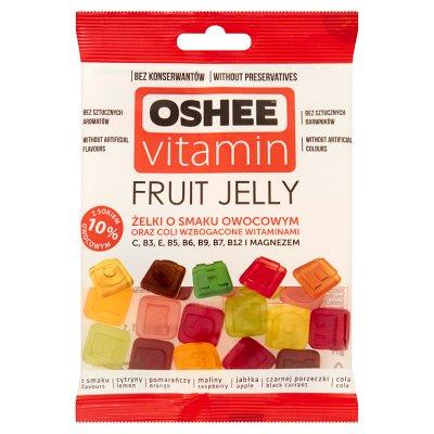 Oshee Vitamin Fruit Jelly żelki o smaku owocowym wzbogacone witaminami 100 g