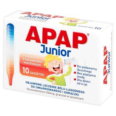 Apap Junior 250 mg 10 saszetek do rozpuszczania w jamie ustnej