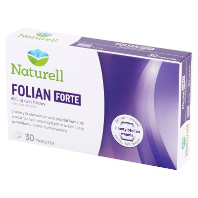 Naturell Folian 800 ug,   30 tabletek