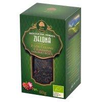 Dary Natury herbata zielona z żurawiną, maliną i różą EKO 80 g