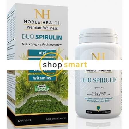 Noble health duo spirulin, 120 tabletek