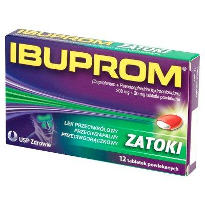 Ibuprom Zatoki, 12 tabletek
